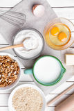 烘烤和烹调成份概念、品种和器物 库存图片