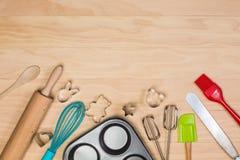 烘烤和酥皮点心工具 库存照片