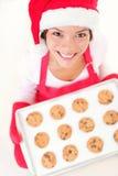 烘烤圣诞节圣诞老人妇女 库存图片