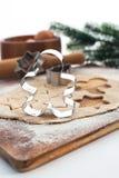 烘烤圣诞节曲奇饼和姜饼 免版税库存图片