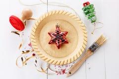 烘烤圣诞节馅饼 免版税库存照片
