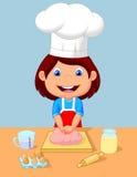 烘烤女孩一点 库存例证