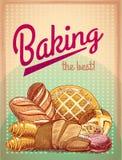 烘烤最佳的酥皮点心海报 免版税图库摄影