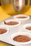 烘烤杯形蛋糕 库存照片