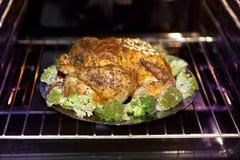 烘烤火鸡和圆白菜 库存照片