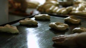 烘烤点心小圆面包 影视素材