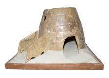 烘烤的面包的, 14世纪Tandoor 库存照片