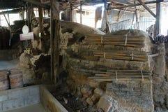 烘烤的龙klin在Lampang,泰国滚保龄球 库存照片