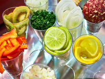 烘烤的水果和蔬菜添加剂 库存照片