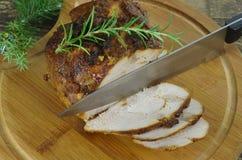 烘烤红色牛肉肉 免版税库存图片