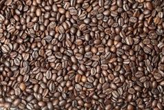 烘烤背景的咖啡种子 库存照片