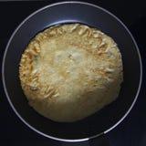 烘烤薄煎饼 库存图片