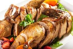 烘烤被充塞的鸭子 免版税图库摄影