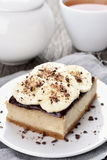 烘烤香蕉乳酪蛋糕 库存图片