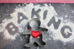 烘烤从心脏 免版税库存图片