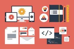 烙记和应用设计元素 免版税图库摄影