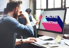 烙记商业数字式概念的网上营销 库存图片
