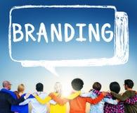 烙记的品牌版权商标营销概念 免版税库存图片