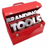烙记的Tools Marketing Company企业了悟工具箱 库存图片
