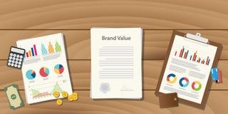 烙记价值与文书工作文件的概念例证在桌上 皇族释放例证