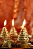 烛光圣诞节 免版税库存图片