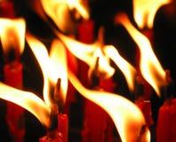 烛光焰 免版税库存照片