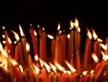 烛光焰 图库摄影
