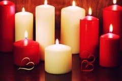 烛光集合爱 库存图片