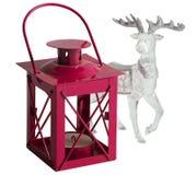 烛台圣诞节鹿 免版税库存图片