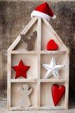 烛台 圣诞节灯笼 Cristmas装饰,招呼加州 免版税库存照片
