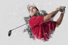 从烟出来的疾风高尔夫球运动员 免版税图库摄影