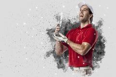 从烟出来的疾风高尔夫球运动员 库存照片