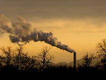 烟和烟囱,行业 库存图片
