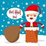 烟囱圣诞老人 免版税库存图片