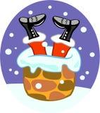烟囱圣诞老人 库存照片