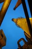 烟囱在工厂 库存图片