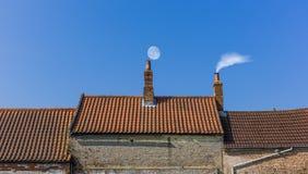 烟囱屋顶线 库存照片