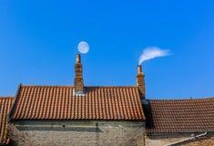 烟囱屋顶线 库存图片