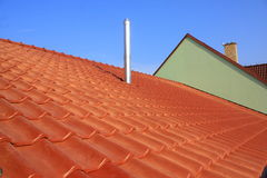 烟囱屋顶 免版税库存图片