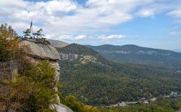 烟囱岩石视图北卡罗来纳 免版税图库摄影