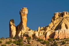 烟囱岩石,新墨西哥岩层 免版税图库摄影