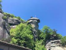 烟囱岩石NC 库存照片