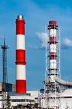 烟囱工厂天空 库存照片