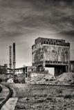 烟囱工厂老减速火箭的样式 免版税库存照片