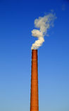 烟囱工厂 免版税库存图片