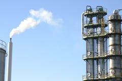 烟囱工厂 免版税图库摄影