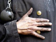 烟囱扫除机 免版税库存图片