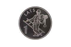 烟囱硬币拉脱维亚转移 免版税库存照片
