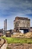 烟囱老factoryand铁工厂 库存图片
