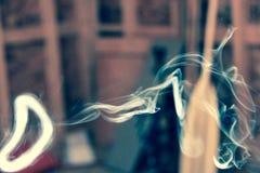 烟圆环 图库摄影